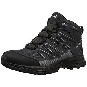 Salomon Men's Pathfinder Mid CSWP M Walking Shoe, Magnet/Phantom/Monument, 12 Medium US