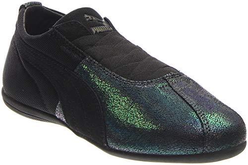(PUMA Women's Eskiva Low Deep Summer Black Sneaker 7 B (M))