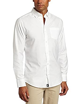 Lee Uniforms Men's Long Sleeve Oxford Shirt, White, Small