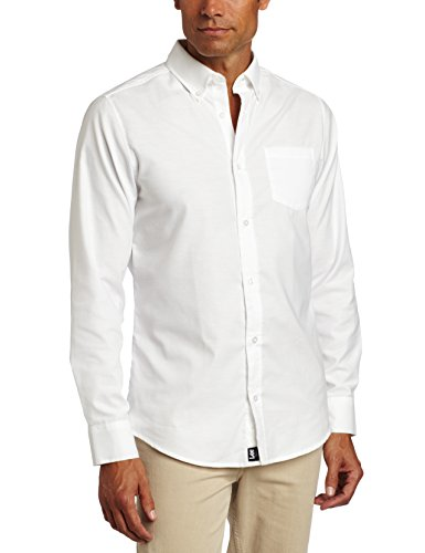 (Lee Uniforms Men's Long Sleeve Oxford Shirt, White, Medium)