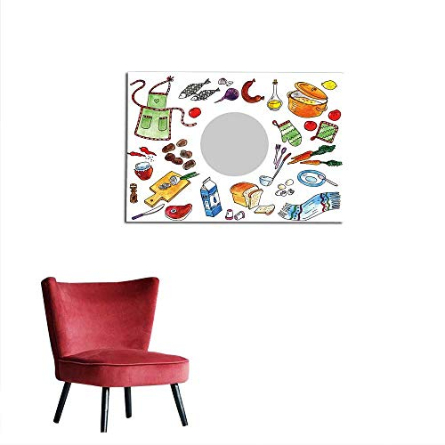 Decals Illustration with Food Ingredients for Making Soup Mural 24
