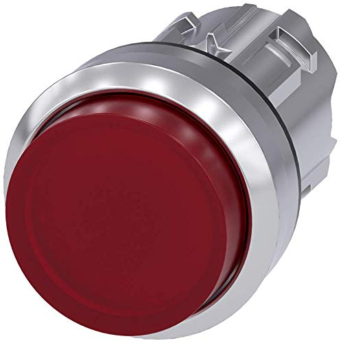 Momentary Siemens 3SU10510BB200AA0 Illuminated Pushbutton Extended 22mm Metal Red