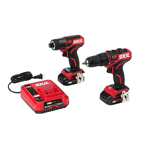 SKIL 2-Tool Drill Kit: PWRCore 12 Brushless 12V 1/2 Inch Cor