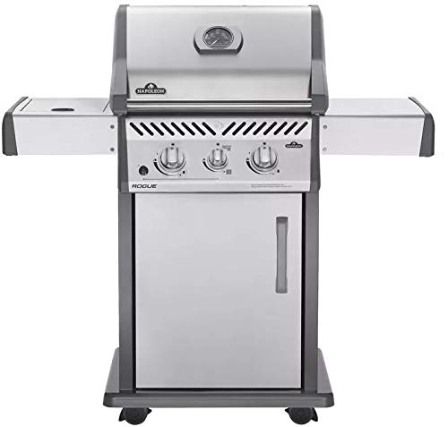 Napoleon Rogue 365 Freestanding Stainless Steel Gas Grill with Infrared Side Burner (R365SIBNSS), Natural Gas