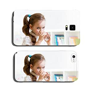 Cute little girl drinking water cell phone cover case iPhone6