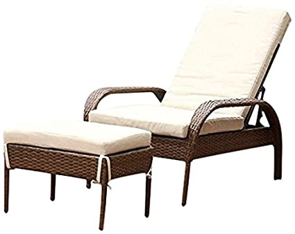 Image Unavailable - Amazon.com: Abbyson Palermo Outdoor Wicker Chaise Lounge With