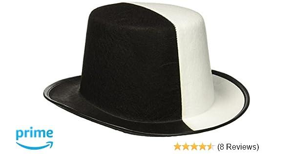733da2e1ec200 Amazon.com  Forum Novelties Black   White Top Hat  Toys   Games