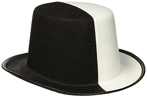 Forum Novelties Black & White Top Hat -