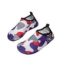 Luwint Kids Water Shoes - Cute Barefoot Beach Shoes for Pool Swim Surf Yoga Trampoline - Aqua Socks