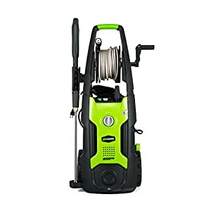GreenWorks GPW2002 13 amp 2000 PSI 1.2 GPM Electric Pressure Washer with Hose Reel