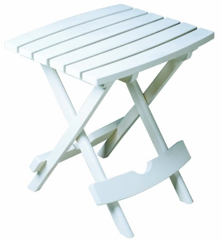 Adams Manufacturing 8500-48-3700 Plastic Quik-Fold Side Table, White (Resin Table Round Patio 48)