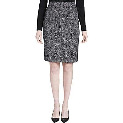 Calvin Klein Womens Jacquard Printed Pencil Skirt