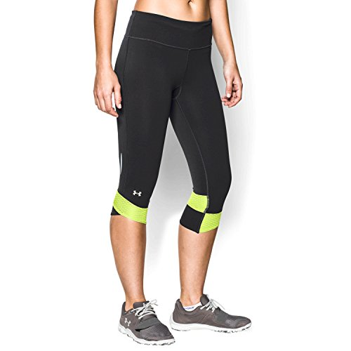Under Armour HeatGear Fly-By Capri Leggings, S, Black / Xray