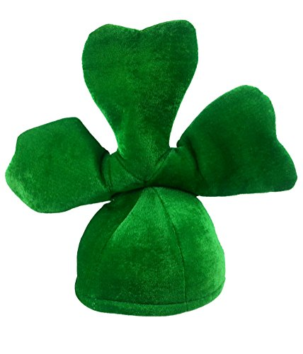 Adult Shamrock Hat - Green St Patricks Day Plush Shamrock Costume Accessory (Top Fancy Dress Costumes)