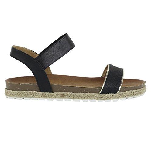 Sandalias de Mujer REFRESH 61838 METALIZADO NEGRO