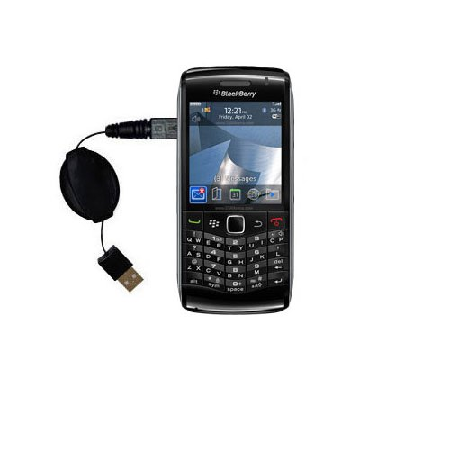 USB Power Port Ready retractable USB charge USB cable wired specifically for the Blackberry Pearl 9100 and uses TipExchange