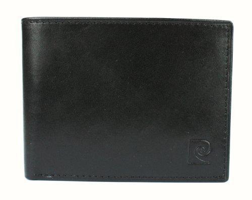 new-pierre-cardin-mens-genuine-leather-passcase-billfold-wallet-black