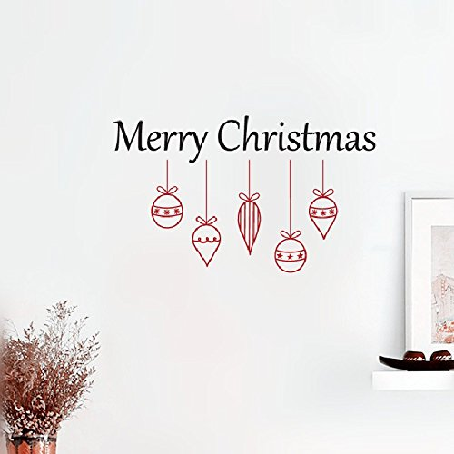 Removable Vinyl Wall Stickers Act Mural Decal Art Home Decor Merry Christmas Ornament Cluster for Christmas Holiday