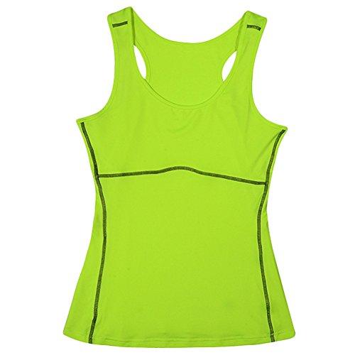 VLUNT - Camiseta sin mangas - para mujer Verde