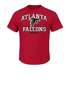 NFL Atlanta Falcons Men's Greatness Short Sleeve Basic Tee, Small, Cardinal