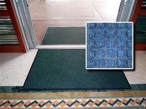 """Waterhog Style Entrance Mat - """"FloorGuard Diamond"""" - 3' x 4' - Blue - Indoor or Covered Outdoor - Commercial or Residential"""
