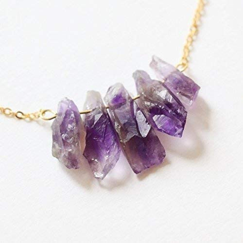 c7247a9a49e6a Amazon.com: Amethyst Necklace Raw crystal necklace natural crystal ...