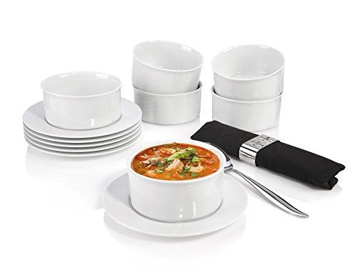 Villeroy&Boch 207780 Suppenteller, porzellan, 12 Einheiten, weiß