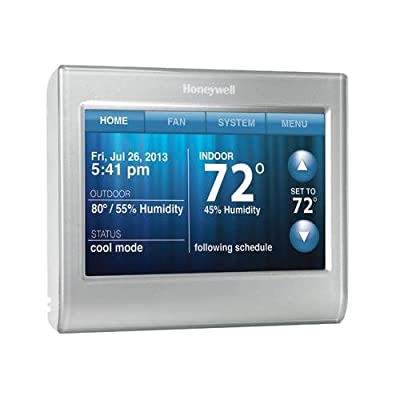 Honeywell Home/Bldg Center RTH9580WF1005/W1 Wi-Fi Thermostat, 7-Day, Touch-Screen