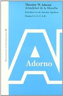 Actualidad de la filosofía par Adorno