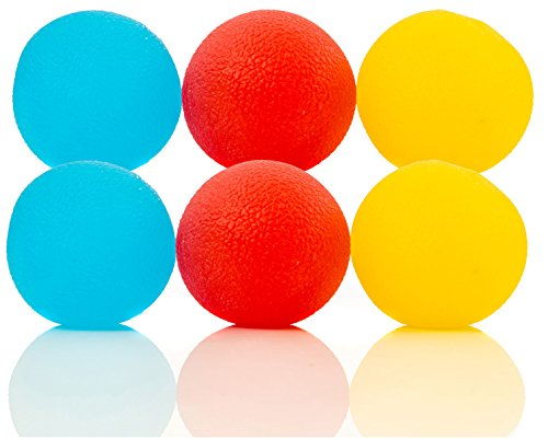 Impresa Products 6-Pack of Stress Relief Balls - Tear-Resistant Stress Ball, Non-toxic, BPA/Phthalate/Latex-Free (Colors as -