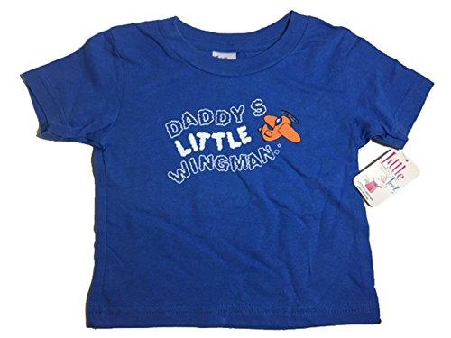 Little Teez Graphic Daddy's Little Wingman Funny Toddler Short Sleeve T-Shirt (Halloween En Estados Unidos)