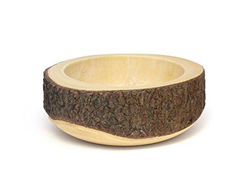 Lipper International 1059 Acacia Slab Tree Bark Bowl, 10