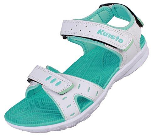 Kunsto Women's Athletic Sandal Outdoors Hiking Walking Size 12 Blue