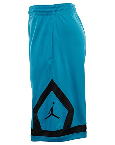 Jordan Flight Diamond Basketbal Shorts Heren Getijden Blauw / Zwart
