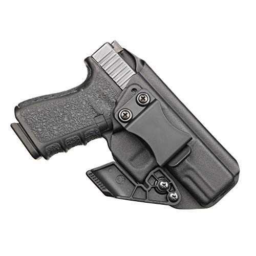 BrotherCraft Kydex Claw Holster for Glock 19/19x/23/32/45 gen 3/4/5- IWB/AIWB with Removable RCS Claw Concealment Wing, Adjustable Cant and Ride Height- Made in The USA (Black, Right-Handed)