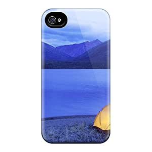 High Quality AmyJoHalum Lone Lakeside Camping Skin Case Cover Specially Designed For Iphone - 4/4s