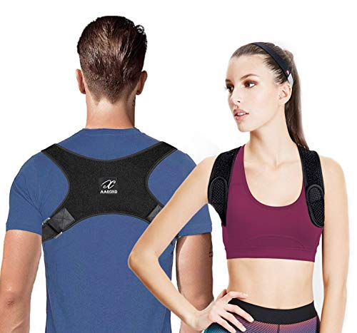 AAROND Posture Corrector for Women & Men, USA Designed Upper Back Brace for Clavicle Support and...