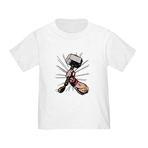 Infant Thor Pajamas - CafePress Marvel Comics Thor Hammer Retro Toddler T Shirt Cute Toddler T-Shirt, 100% Cotton White