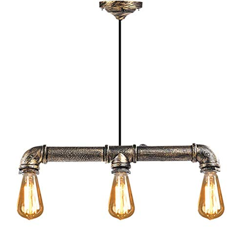DFQX Chandeliers,Pipe Chandeliers,Retro Vintage Personality Iron Water Pipe Shaped Chandelier ()