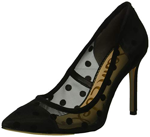 Mesh Ladies Pumps - Sam Edelman Women's Hazel Pump, Black Dotted mesh, 7.5 M US