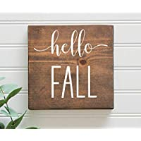 Hello Fall Rustic Wooden Sign 7
