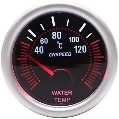 Luckya インストルメントパネル12V 2「」52ミリメートル自動水温計40-120Cユニバーサルエンジン、船舶、修正車用のレンズでは水温センサー車のゲージを煙
