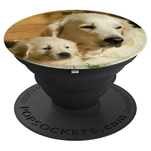 Retriever Animals - Dog Puppy Golden Retriever Animal Petit Cute - PopSockets Grip and Stand for Phones and Tablets