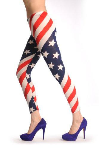 American Flag - Multicolore Leggings Taille Unique (32-34)