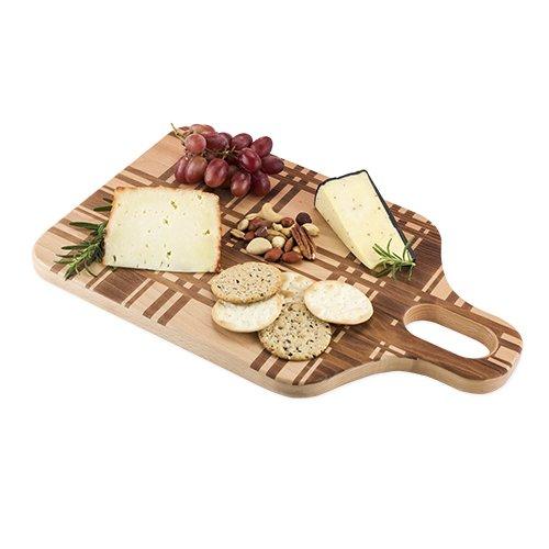 Foster & Rye 5705 Beech Wood Plaid Chopping Cheese board,