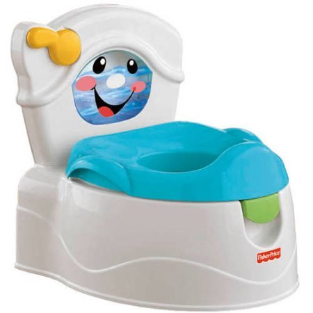 Fisher-Price Learn to Flush Potty Training Chair with Music, Light and Sounds (Hippo Tales Potty)