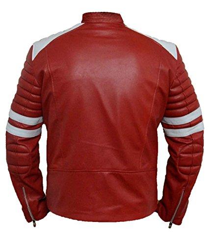 Fight Club faux cuir rouge Veste HLS Hommes