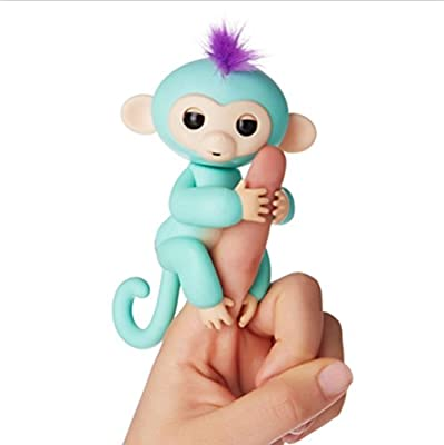 Interactive Baby Monkey,KEYEE Cute Fingerlings Stress Release Fun Toys Finger Puppets Electronic Monkey Toys For Kids For Babies-Mike from KEYEE