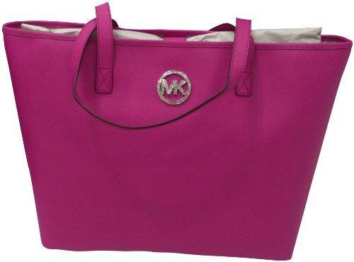 Michael Kors Jet Set MD Travel Jewel Tote Pink Saffiano Leather