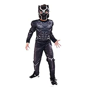 YXRL Disfraces De Halloween Niños Cosplay Muscle Black Panther ...